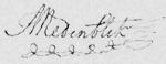Handtekening Anthony Medenblik